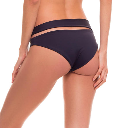 FOLIAGE BLACK WAISTBAND BIKINI BOTTOM MILONGA FOLL06