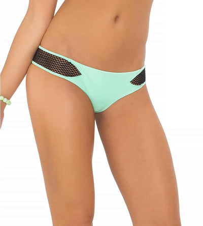 FOR YOUR EYES ONLY MINT CONVERTIBLE NET CHEEKY BOTTOM BY LULI FAMA