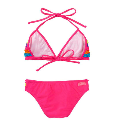 FUSCHIA CHASING RAINBOWS TRIANGLE BIKINI AZUL 3129-F