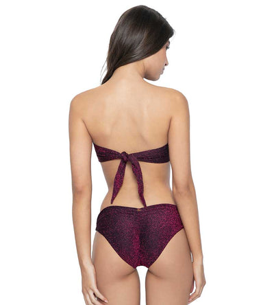 GARNET COLOR BLOCK BANDEAU TOP PQ SWIM GAR-153B