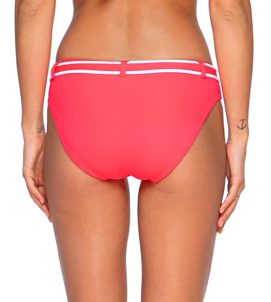 GLOW ZUMA BELTED HIPSTER BOTTOM BY SWIM SYSTEMS