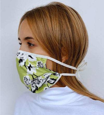GREEN FLORAL BELIEVE REVERSIBLE FACE MASK MAAJI 1012INV002-1