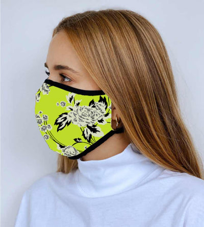 GREEN FLORAL JOURNEY REVERSIBLE FACE MASK MAAJI 1009INV002-1