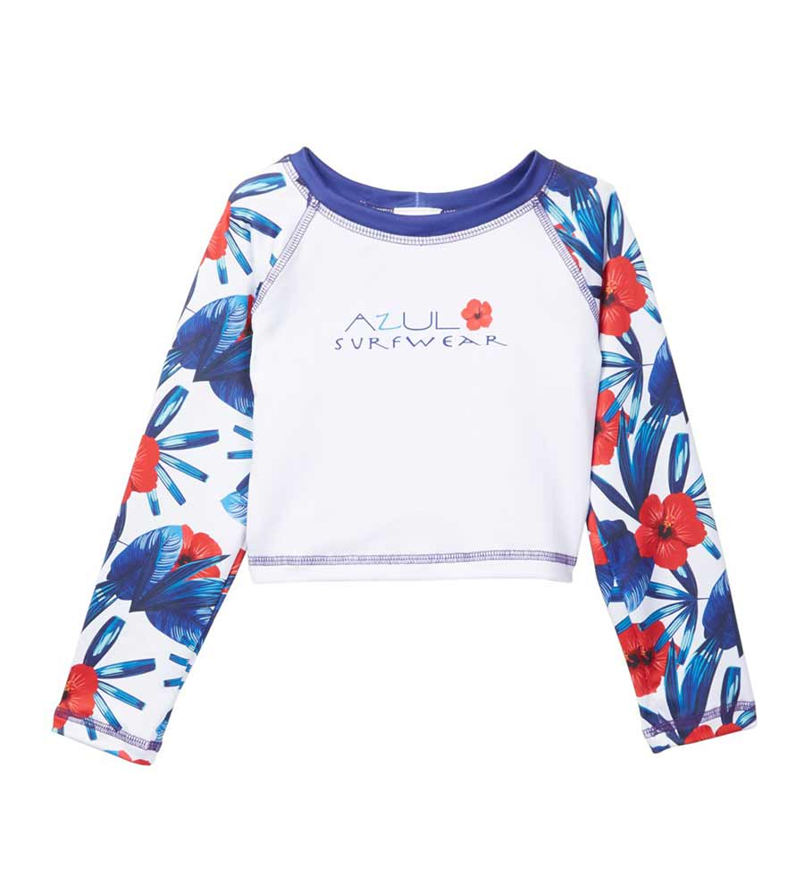 HAWAII CROP RASHGUARD AZUL 7948