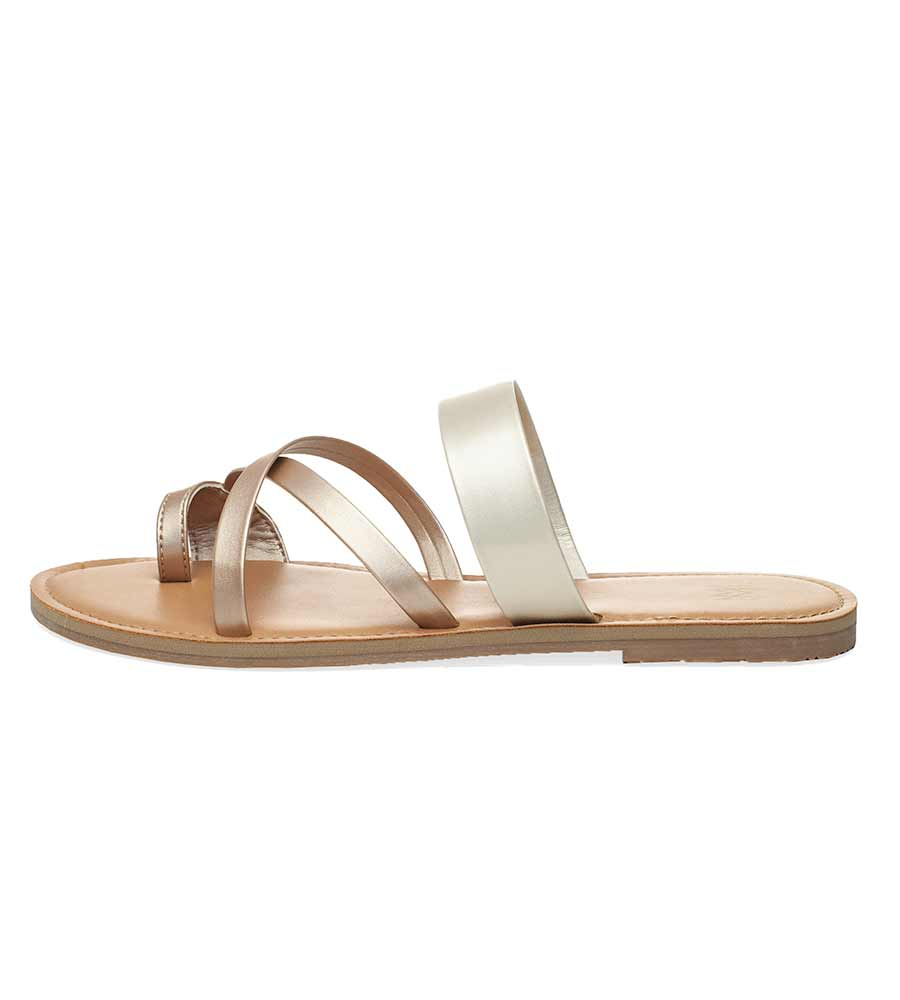 ICON JONI DESERT SILVER SANDALS BY MALVADOS SANDALS