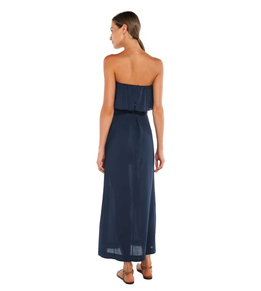 INDIGO GLENDA LONG DRESS BY VIX