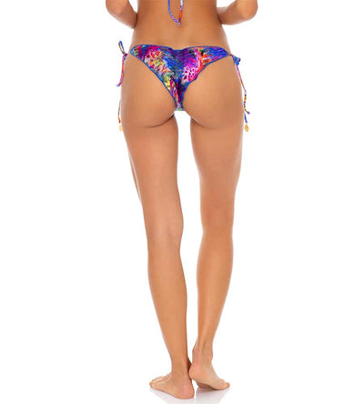 ISLA HOLBOX REVERSIBLE RUCHED BRAZILIAN TIE SIDE BOTTOM LULI FAMA L65102P-111