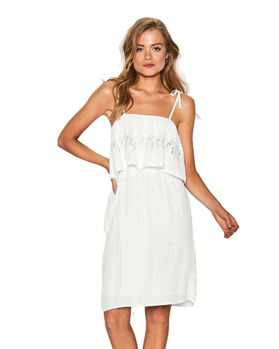 WHITE JACLYN DRESS LSPACE JACDR18-WHT