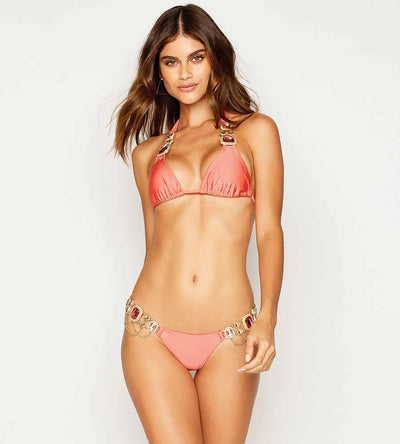 JAZMIN ROSE SKIMPY BOTTOM BEACH BUNNY B18105B1-ROSE