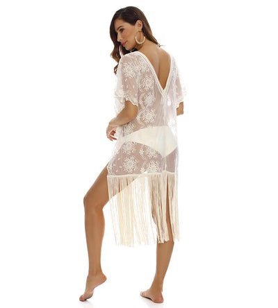 JULIE FRINGE COVER UP MILONGA DEVC03