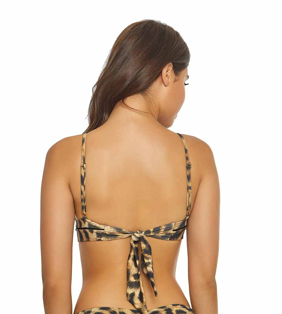 JUNGLE STITCHED KYLIE HALTER TOP BY PILYQ