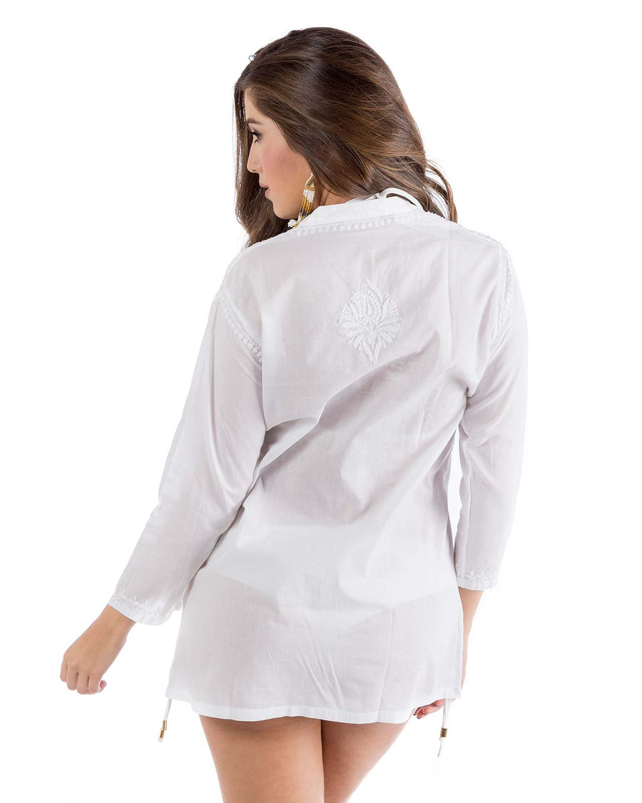 EMBROIDERED TUNIC SHIRT BY PRAIAVE
