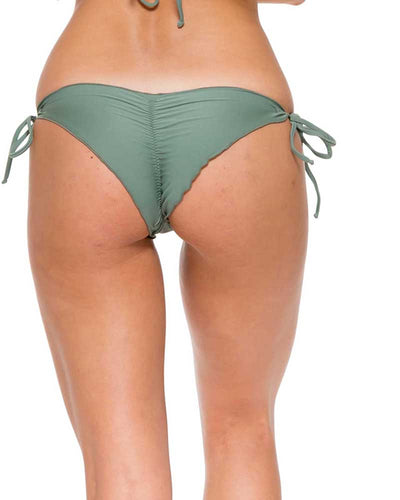 ARMED AND READY COSITA BUENA WAVY RUCHED BRAZILIAN TIE SIDE BOTTOM LULI FAMA L17602-431