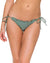 ARMED AND READY COSITA BUENA WAVY RUCHED BRAZILIAN TIE SIDE BOTTOM BY LULI FAMA