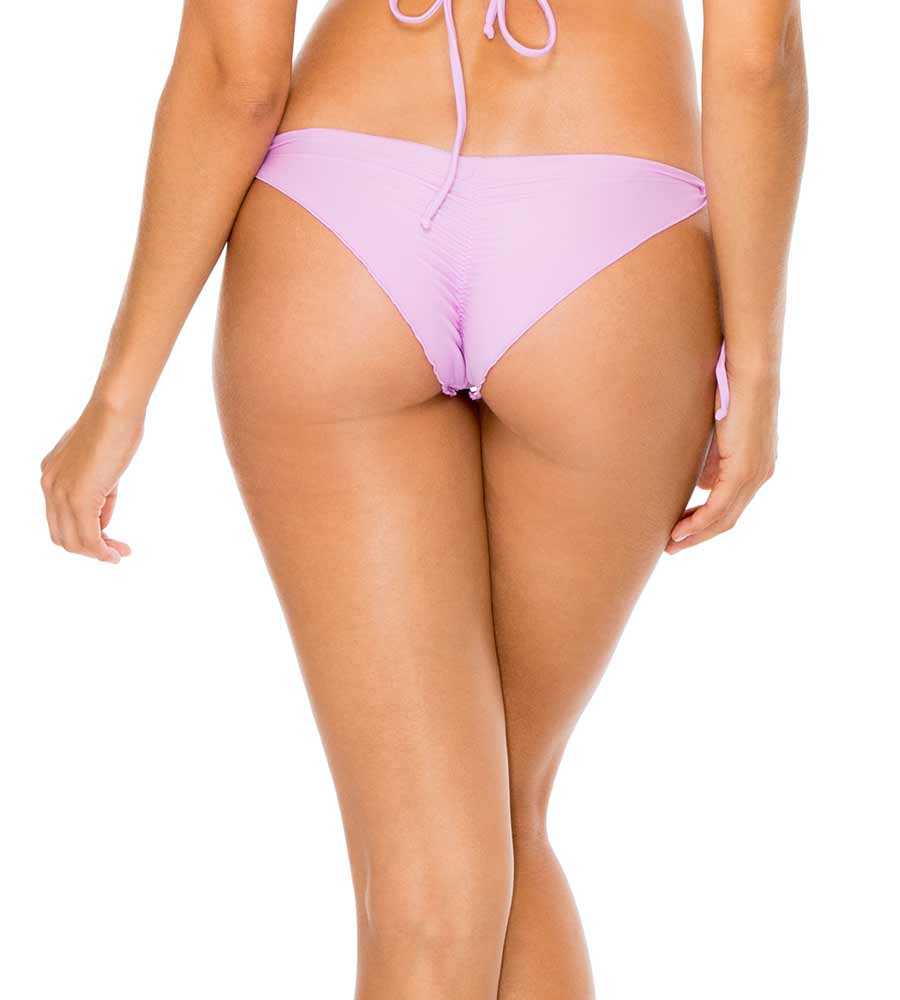 COSITA BUENA LAVANDA WAVY RUCHED BRAZILIAN TIE SIDE BOTTOM BY LULI FAMA