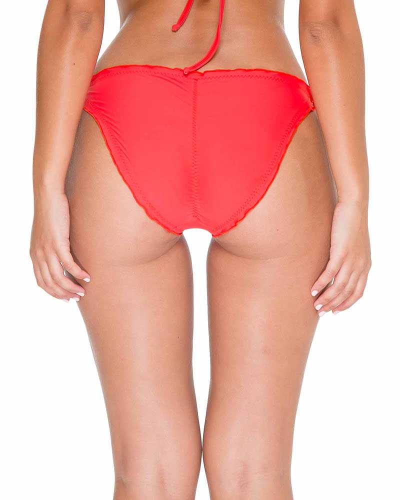 GIRL ON FIRE COSITA BUENA RUCHED FULL TIE SIDE BOTTOM BY LULI FAMA