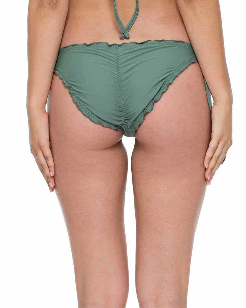 ARMED AND READY COSITA BUENA RUCHED FULL TIE SIDE BOTTOM BY LULI FAMA
