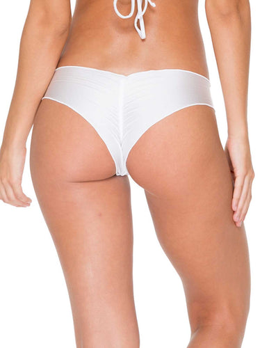 WHITE COSITA BUENA WAVEY BRAZILIAN RUCHED BOTTOM LULI FAMA L17604-002