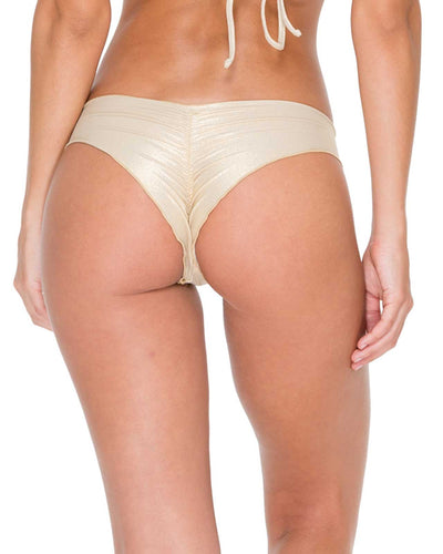 GOLD RUSH COSITA BUENA WAVEY BRAZILIAN RUCHED BOTTOM LULI FAMA L17604-316