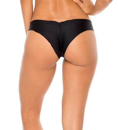 BLACK COSITA BUENA RUCHED BACK BOTTOM LULI FAMA L17604P-001