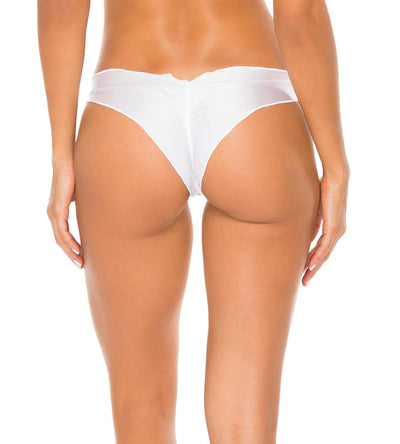WHITE COSITA BUENA RUCHED BACK BOTTOM LULI FAMA L17604P-002