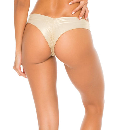 GOLD RUSH COSITA BUENA RUCHED BACK BOTTOM LULI FAMA L17604P-316
