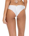WHITE COSITA BUENA STRAPPY BRAZILIAN RUCHED BACK BOTTOM LULI FAMA L17620-002