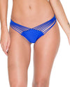 ELECTRIC BLUE COSITA BUENA STRAPPY BRAZILIAN RUCHED BACK BOTTOM LULI FAMA L17620-340