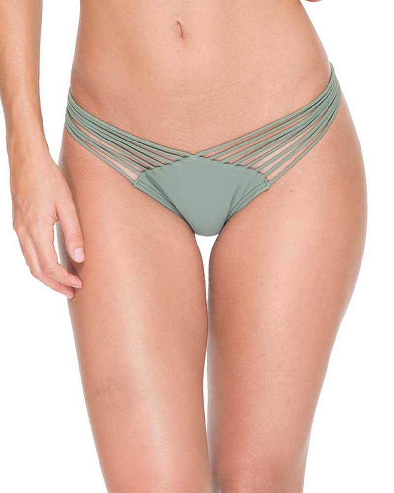 5a97b75a00 ARMED AND READY COSITA BUENA STRAPPY BRAZILIAN RUCHED BACK BOTTOM LULI FAMA  L17620-431