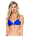 ELECTRIC BLUE COSITA BUENA MOLDED PUSH UP TOP LULI FAMA L176435-340