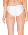 WHITE COSITA BUENA FULL RUCHED BACK BOTTOM LULI FAMA L176521-002