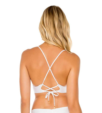 WHITE COSITA BUENA CROSS BACK BUSTIER TOP LULI FAMA L176M63-002