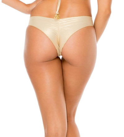 GOLD RUSH COSITA BUENA REVERSIBLE DRAWSTRING RUCHED BRAZILIAN BOTTOM LULI FAMA L176M94-316
