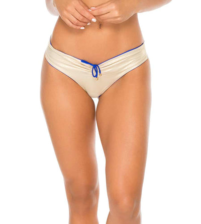 ELECTRIC BLUE COSITA BUENA REVERSIBLE DRAWSTRING RUCHED BRAZILIAN BOTTOM LULI FAMA L176M94-340