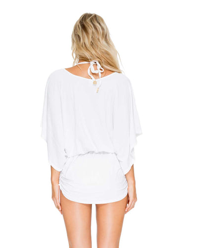 WHITE COSITA BUENA SOUTH BEACH DRESS LULI FAMA L177968-002