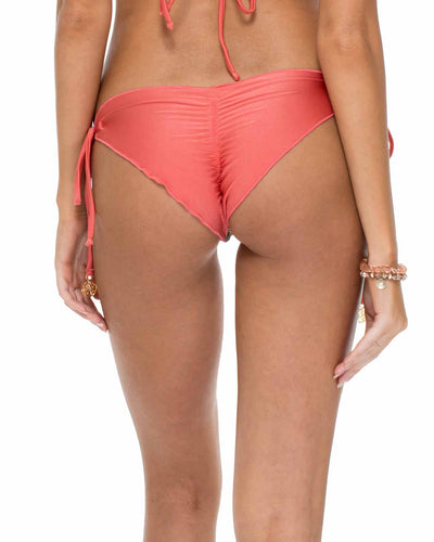 CHA-CHA-CHA RUCHED BRAZILIAN TIE SIDE BOTTOM LULI FAMA L42402L-111