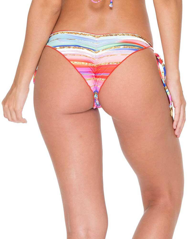 BELLAMAR RUCHED BRAZILIAN TIE SIDE BOTTOM BY LULI FAMA