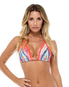 BELLAMAR TRIANGLE HALTER TOP LULI FAMA L49673C-111