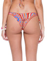 MANDINGA CRYSTAL SEAMLESS RUCHED BRAZILIAN TIE SIDE BOTTOM LULI FAMA L49902P-111