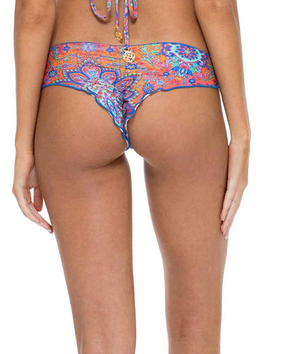 CANDELA STITCHED WAVEY BACK RUCHED BOTTOM LULI FAMA L50704P-111
