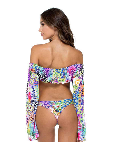GUAJIRA SUPERSTAR TROPICANA OFF SHOULDER TOP LULI FAMA L532850-111