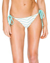 ESPUMA DE MAR EL MALECON BRAIDED WAVEY RUCHED BRAZILIAN TIE SIDE BOTTOM LULI FAMA L53602Z-445