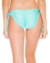 ESPUMA DE MAR EL MALECON BRAIDED WAVEY RUCHED FULL TIE SIDE BOTTOM LULI FAMA L5362FZ-445