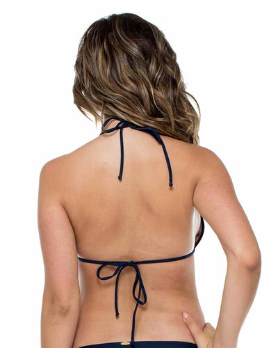 MARINO EL MALECON MOLDED PUSH UP BANDEAU HALTER TOP LULI FAMA L53643Z-446