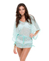 ESPUMA DE MAR EL MALECON CABANA V-NECK DRESS LULI FAMA L536976-445