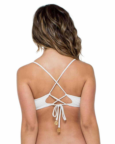 WHITE HAVANA NIGHTS ESMERALDA HALTER TOP LULI FAMA L539132-002
