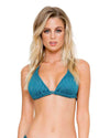 MIRAMAR HAVANA NIGHTS TRIANGLE HALTER TOP LULI FAMA L53973-428