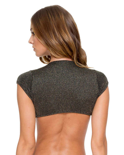 BLACK HAVANA NIGHTS SENORITA CROP TOP LULI FAMA L539M53-001