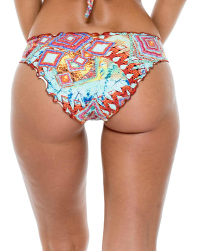 YEMAYA SEAMLESS FULL RUCHED BACK BOTTOM LULI FAMA L54052P-111