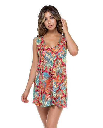 LA BELLA DE CUBA SANTA CRUZ SHORT DRESS LULI FAMA L542A24-111